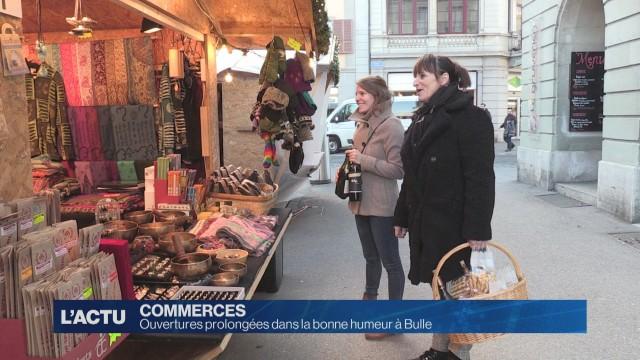 Ouverture prolongée des magasins à Bulle
