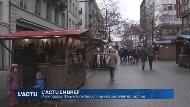 Prolongation des horaires partiellement admis à Fribourg