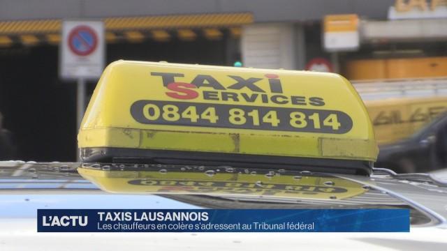 Les chauffeurs de taxis en colère