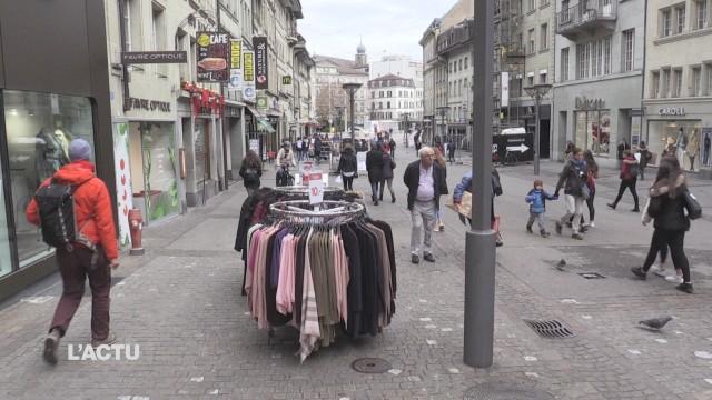 Recours contre l'ouverture des magasins à Fribourg