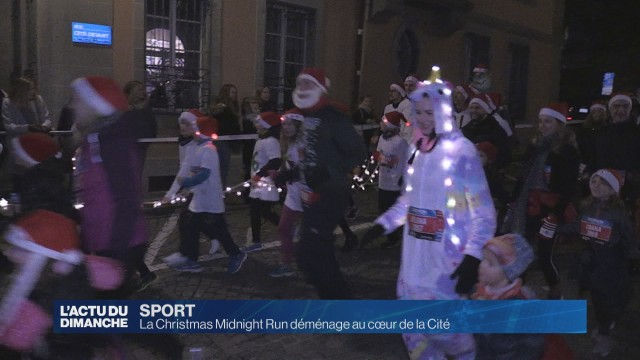 La Christmas Midnight Run déménage au cœur de la Cité