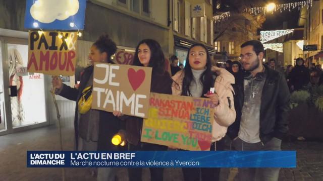 Marche nocturne contre la violence à Yverdon