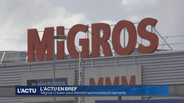 La Migros Crissier peut étendre ses horaires en semaine