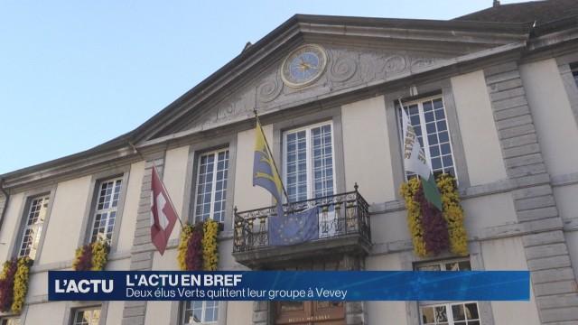 Deux élus Verts quittent leur groupe à Vevey