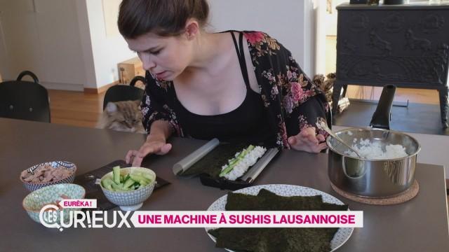 Une machine à sushis lausannoise
