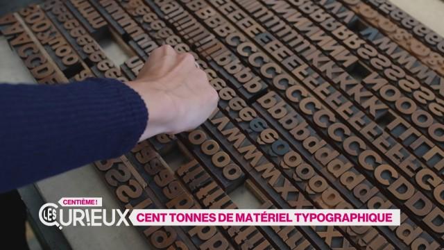 100 tonnes de matériel typographique à Sottens
