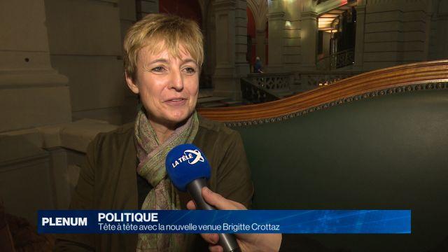 Tête à tête avec la nouvelle venue Brigitte Crottaz