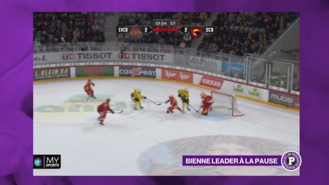 Bienne a perdu le match au sommet (2-3 ap) contre Berne