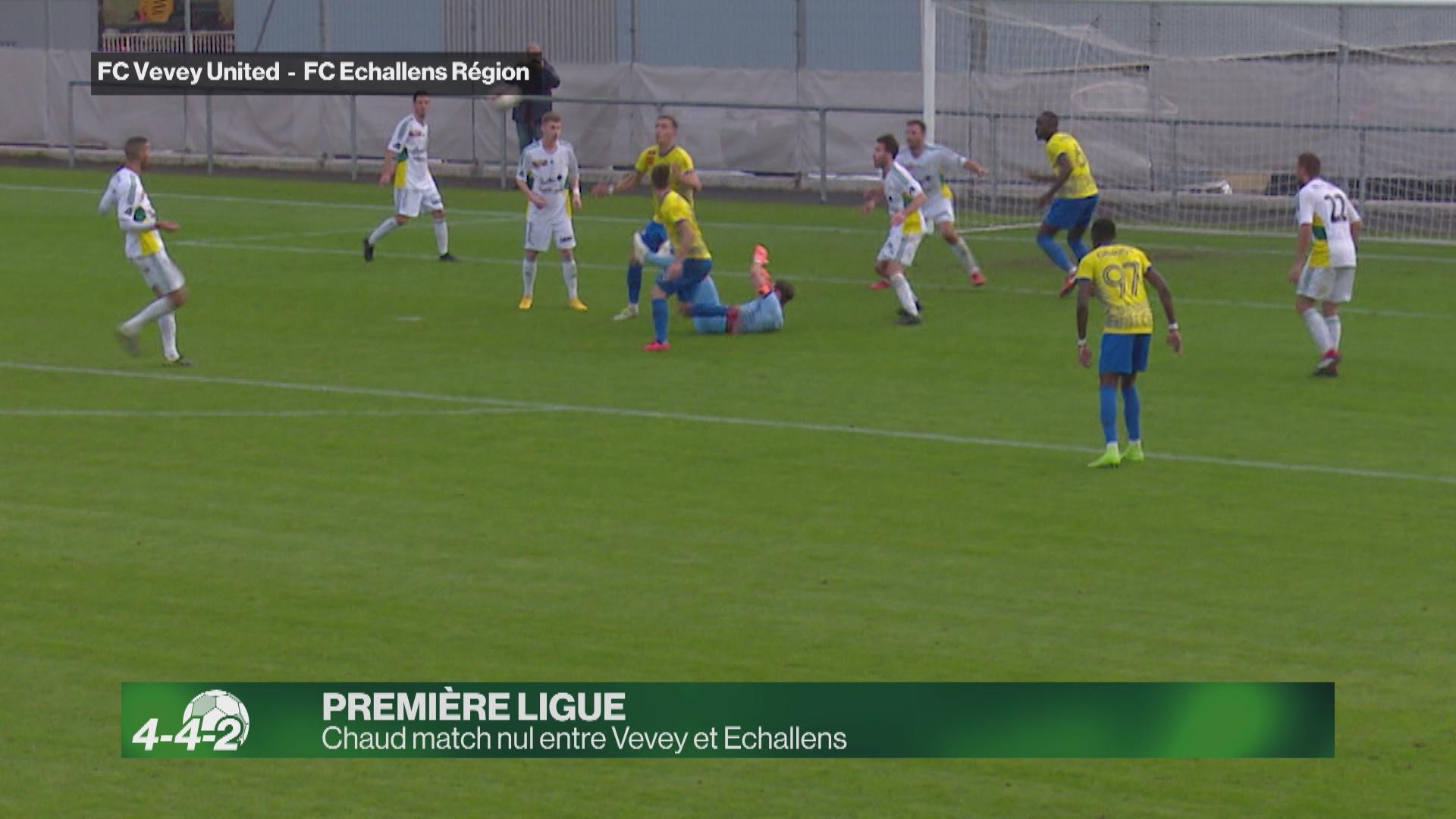 Chaud match nul entre Vevey et Echallens