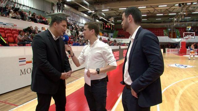SBL Cup, demi-finale, Fribourg-Massagno, la mi-match