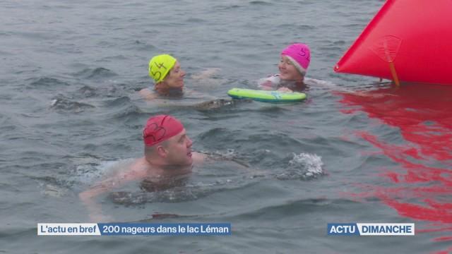 Plus de 200 nageurs ont bravé le froid
