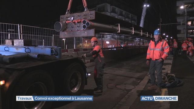 Un convoi exceptionnel traverse Lausanne
