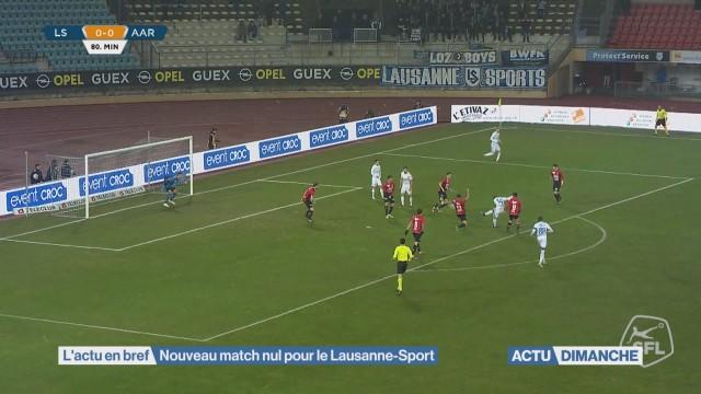Nouveau match nul pour le Lausanne-Sport