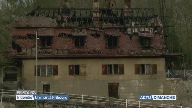 Un mort dans un incendie à Fribourg