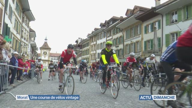 Des vélos vintage dans les rues de Morat