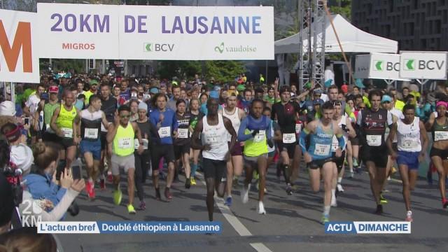 Doublé éthiopien au 20KM de Lausanne