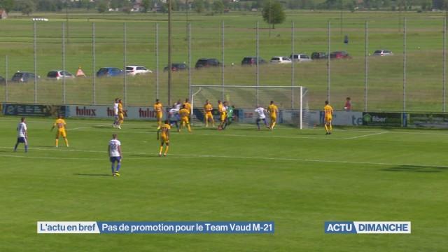 Pas de promotion pour le Team Vaud M-21