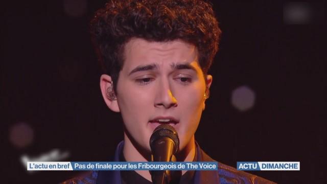 Pas de finale pour les Fribourgeois de The Voice