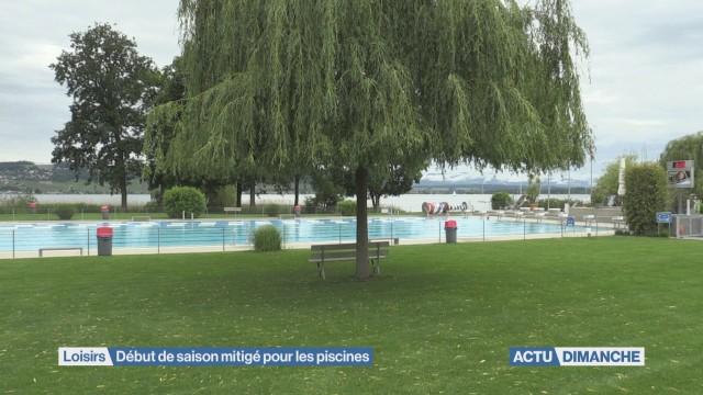Début de saison mitigé pour les piscines
