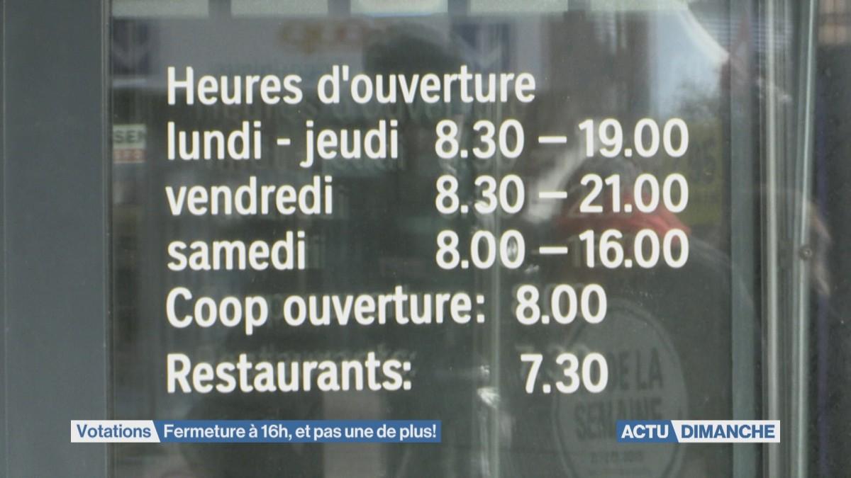 Commerces : Non à l'ouverture jusqu'à 17h le samedi