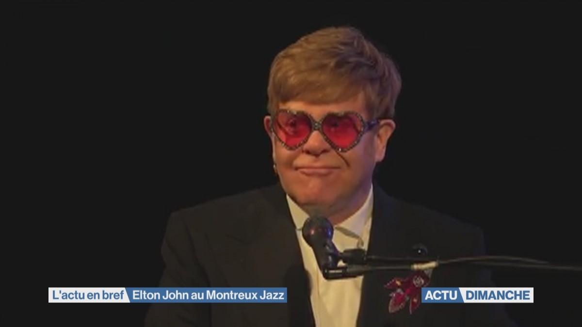 Avalanche de tubes lors du concert d'Elton John à Montreux