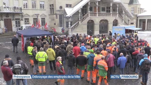 Mobilisation des employés de la ville de Fribourg