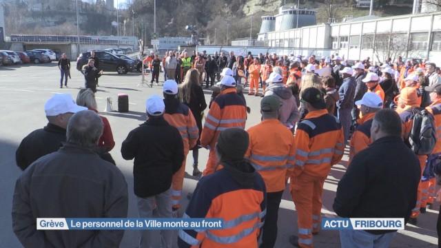 Grève du personnel à Fribourg
