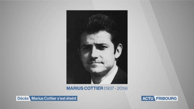 Décès de Marius Cottier
