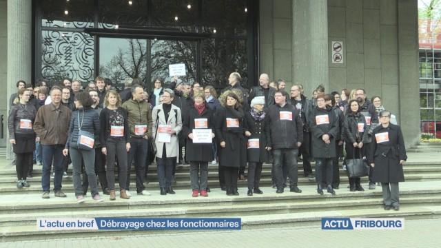 Retraite: débrayage dans la fonction publique fribourgeoise