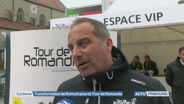 Transformation de Romont pour le Tour de Romandie