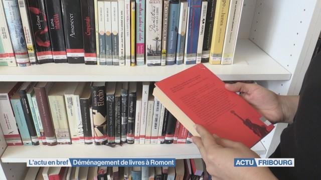 Livres de la BCU entreposés à Romont