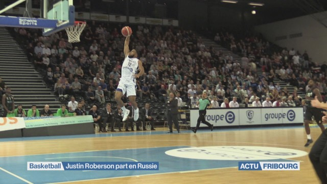Justin Roberson quitte Fribourg Olympic