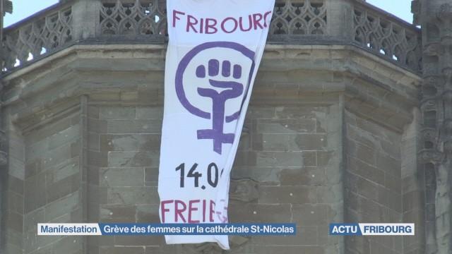 La grève des femmes sur la cathédrale