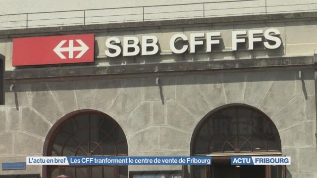 Les CFF tranforment le centre de vente de Fribourg