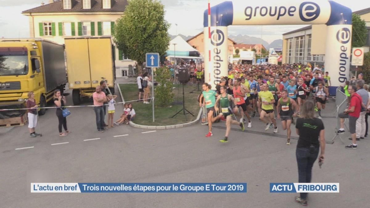 Trois nouvelles étapes pour le Groupe E Tour 2019