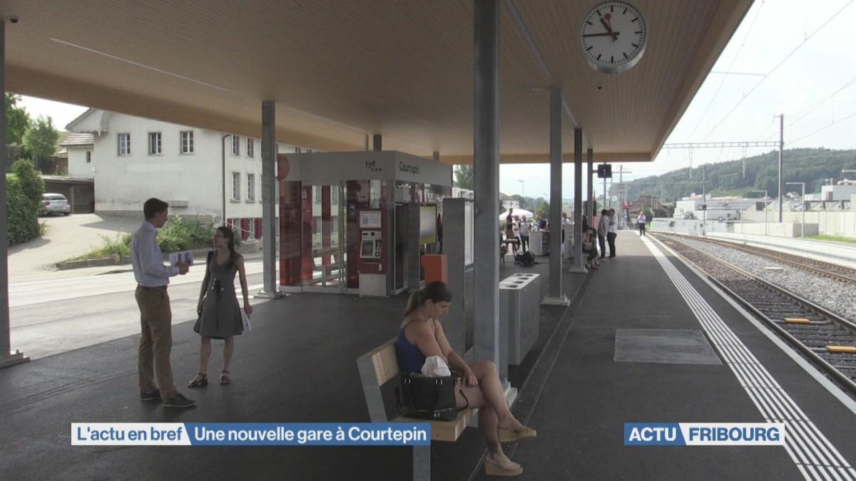 Une nouvelle gare à Courtepin