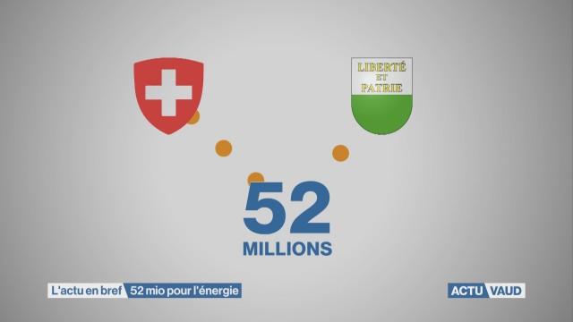 52 millions pour l'assainissement énergétique.