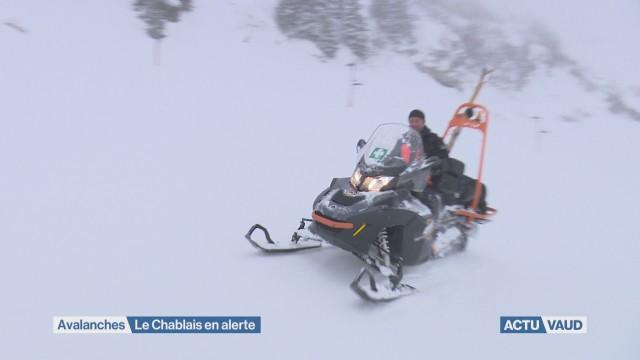 Risque d'avalanches dans le Chablais vaudois