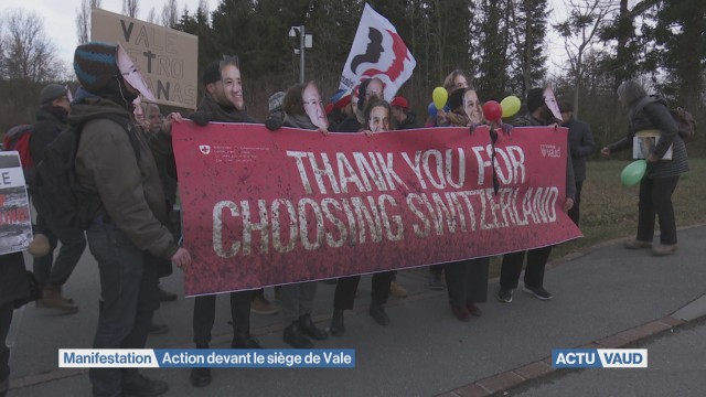 Action devant le siège de Vale