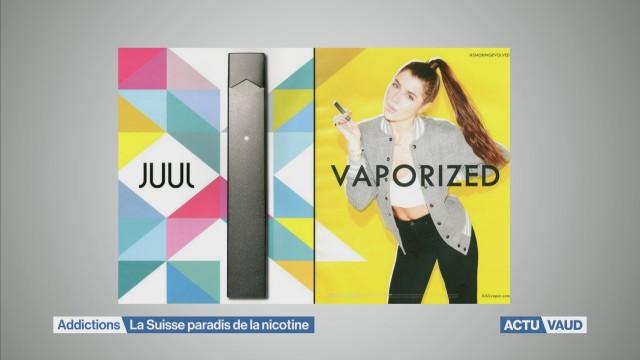 La Suisse: paradis pour la nicotine