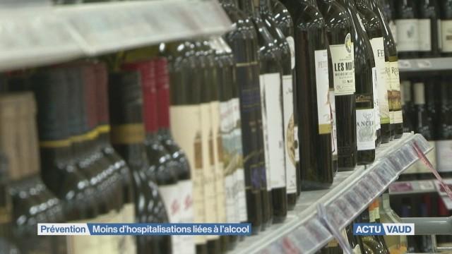 Moins d'hospitalisations liées à l'alcool