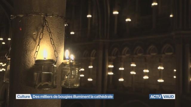 Des milliers de bougies illuminent la cathédrale de Lausanne