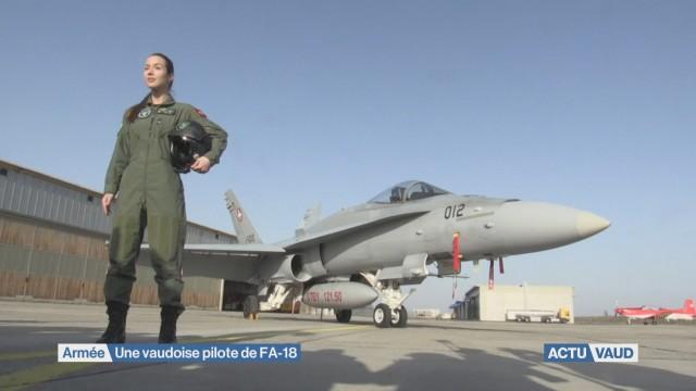 Une vaudoise pilote de FA-18