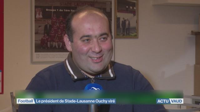 Le président de Stade-Lausanne Ouchy viré
