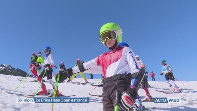 Des jeunes skieurs avides de compétition