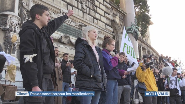 Climat: pas de sanction pour les manifestants