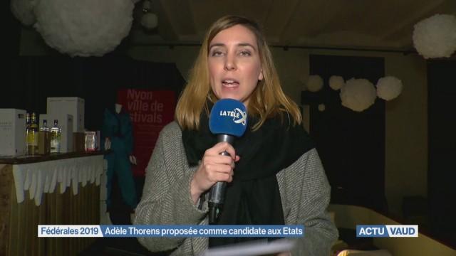 Adèle Thorens proposée comme candidate aux Etats
