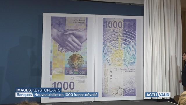 Nouveau billet de 1000 francs dévoilé