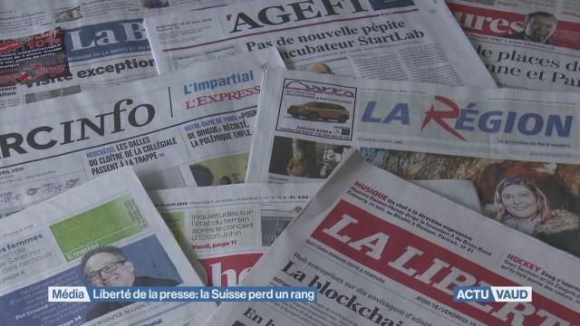 Liberté de la presse : la Suisse perd un rang