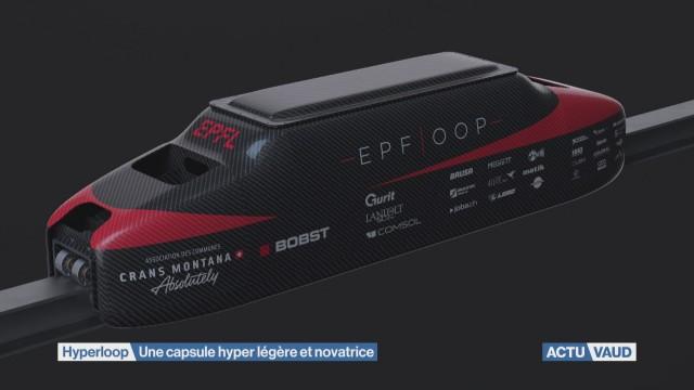 Hyperloop: les étudiants de l'EPFL dévoilent leur capsule.